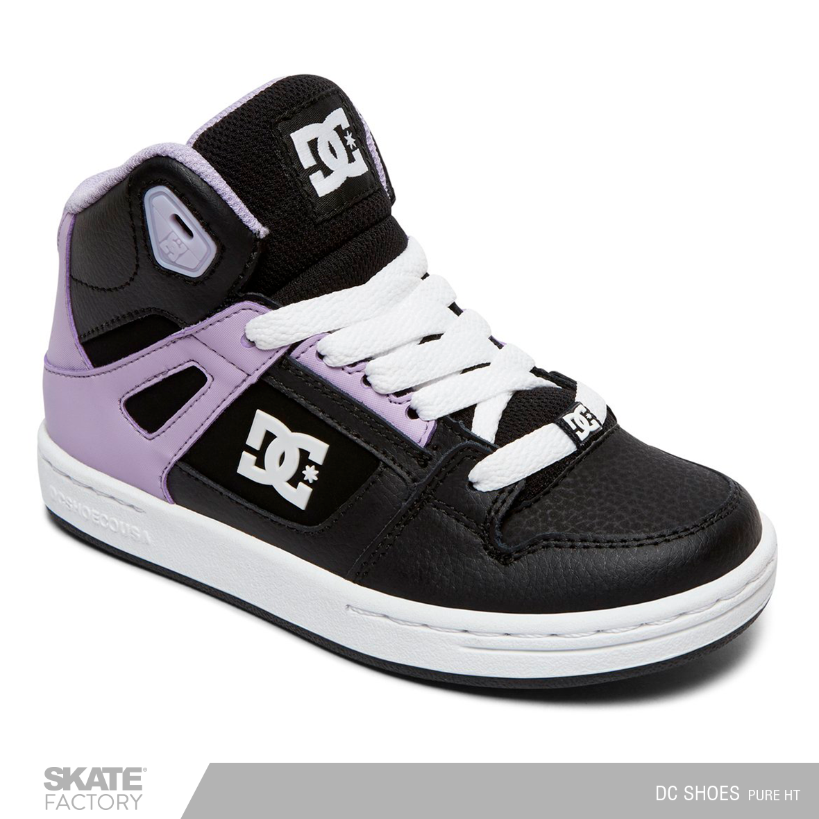TENIS DAMA DC SHOES PURE NEGRO MORADO – Skate Factory