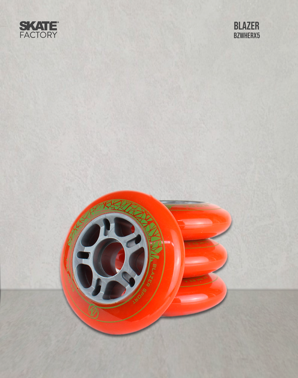 RUEDAS BLAZER COLOR NARANJA 84 MM