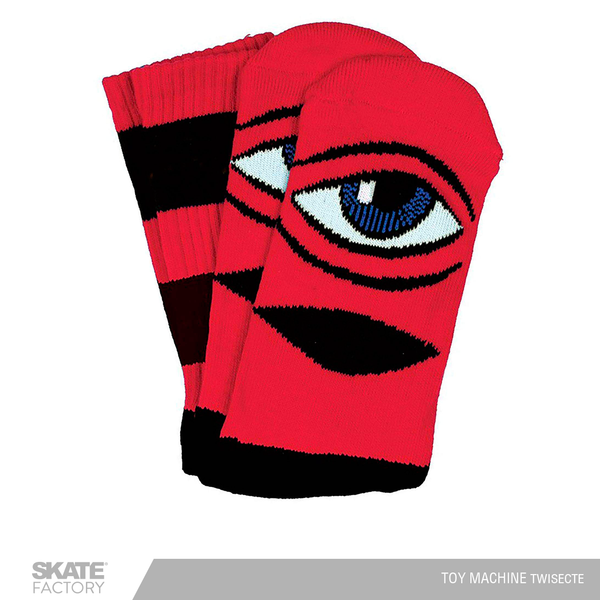 CALCETAS TOY MACHINE SECT EYE COLOR ROJO
