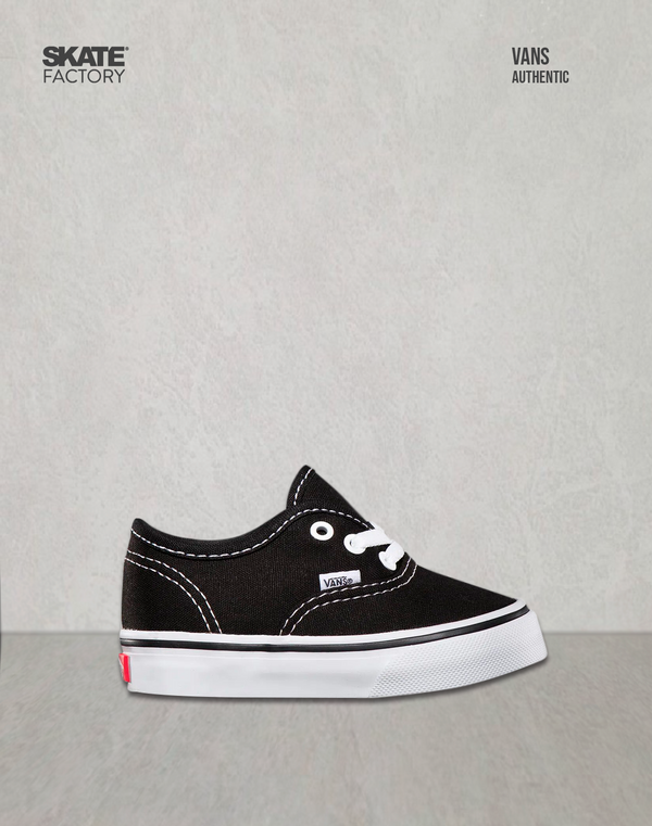 VANS TENIS NIÑOS AUTHENTIC NEGRO