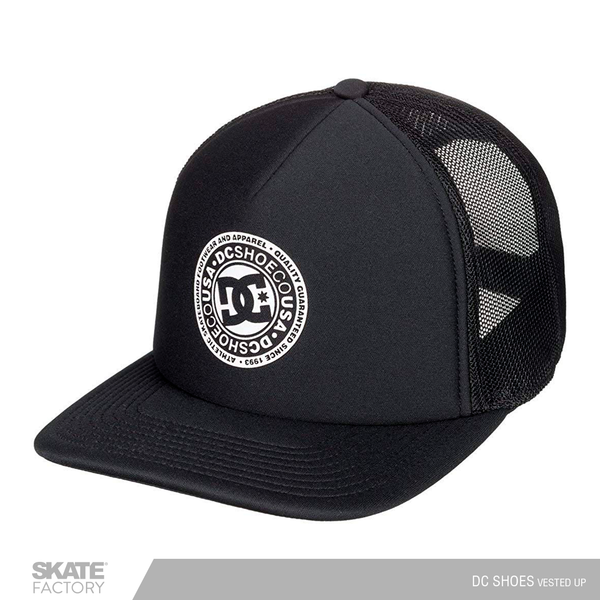 GORRA DC SHOES VESTED UP NEGRA  PARA HOMBRE