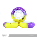 RUEDAS PARA PATINES SET DE 4PZ 72MM ROADSHOW MORADO AMARILLO