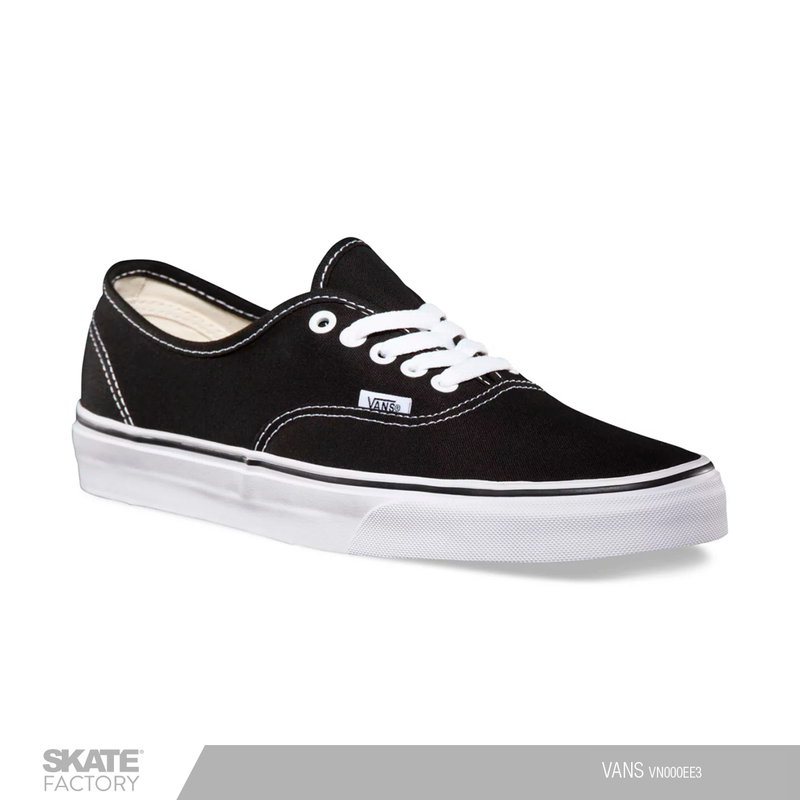 VANS TENIS AUTHENTIC UNISEX CASUAL NEGRO BLANCO