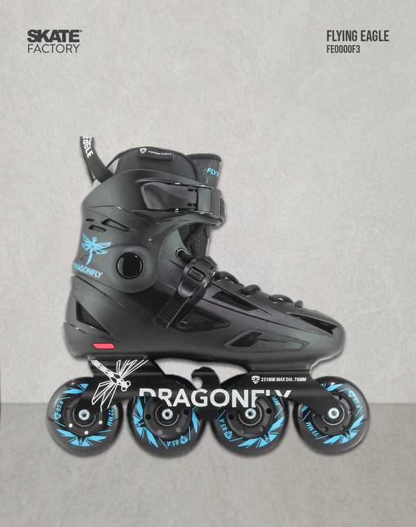 FLYING EAGLE DRAGON FLY PATINES AZUL NEGRO