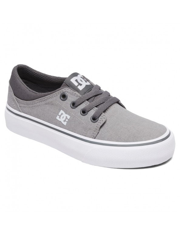 DC SHOES TRASE TENIS DAMA GRIS BLANCO