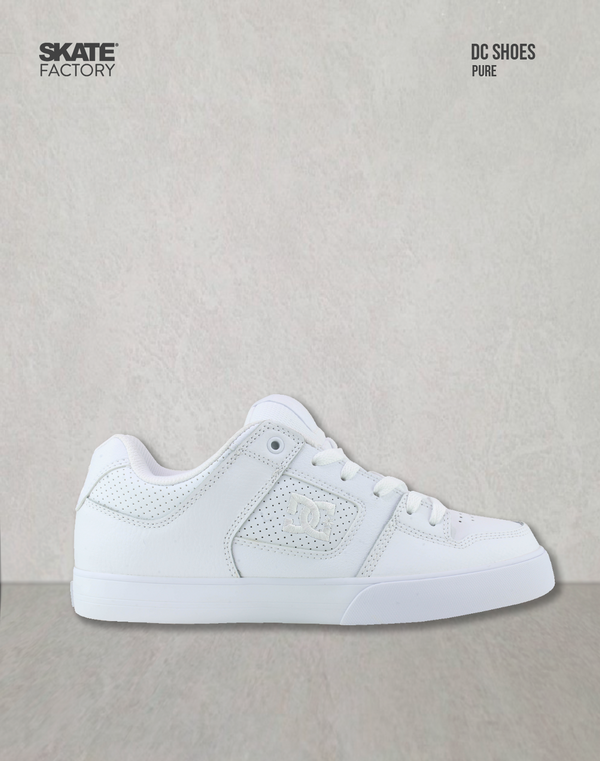 DC SHOES PURE TENIS CABALLERO PIEL BLANCO