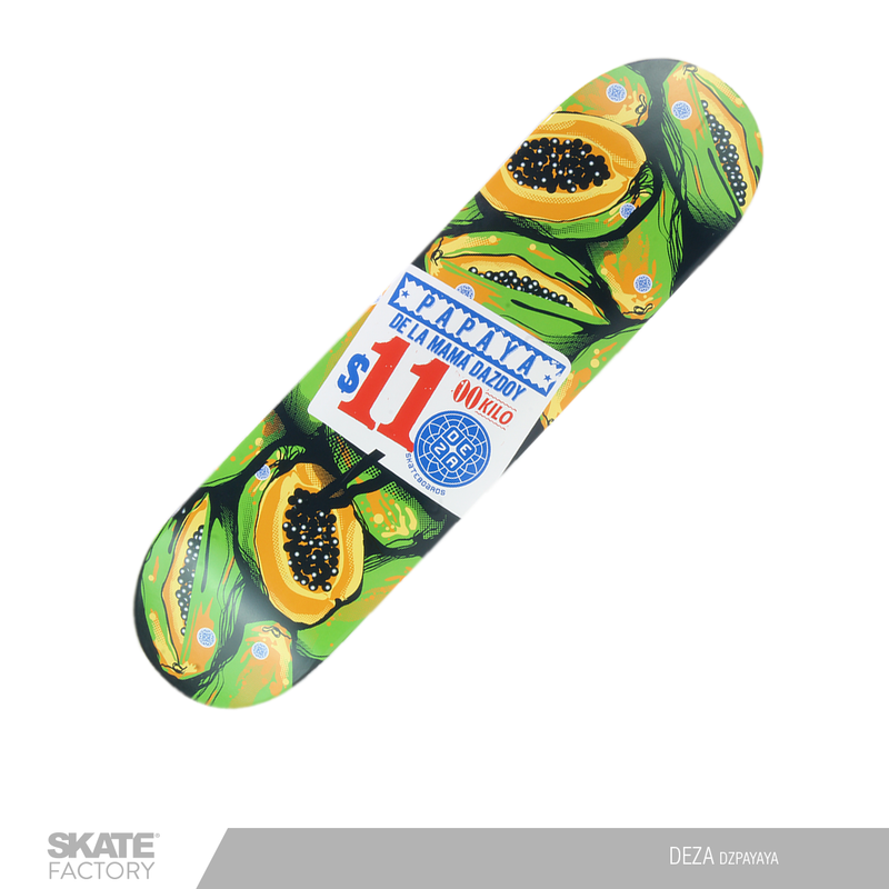 TABLA PARA PATINETA SKATEBOARD DEZA PAPAYA VERDE AMARILLO