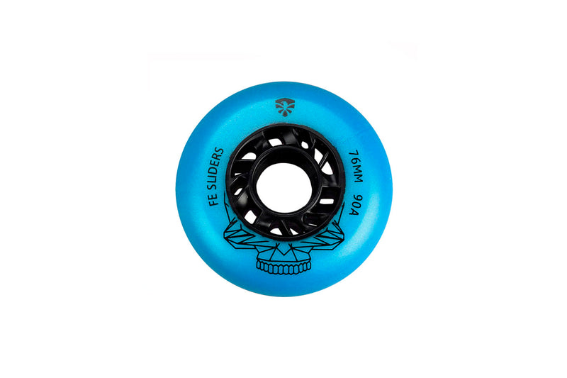 RUEDAS PARA PATINES SET DE 4 PZ FLYING EAGLE SLIDER 76MM 90A AZUL