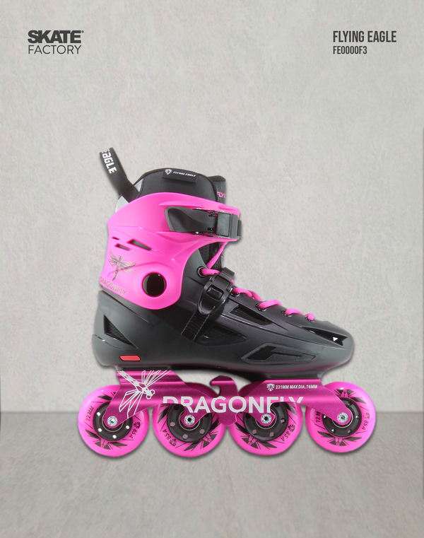 FLYING EAGLE DRAGON FLY PATINES ROSA NEGRO