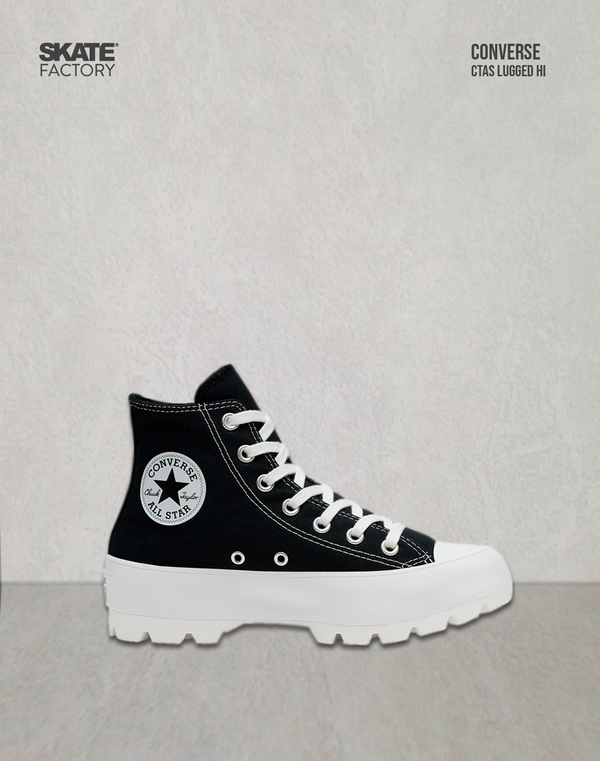 CONVERSE TENIS DAMA LUGGED  NEGRO TEXTIL