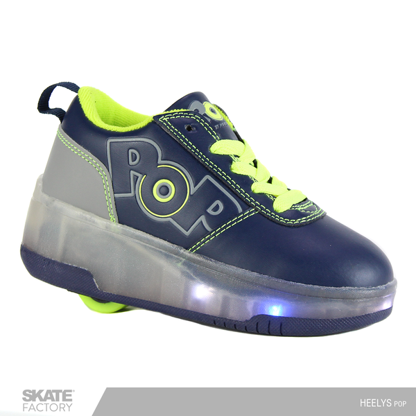 HEELYS POP TENIS PATÍN NIÑO LUCES LED MARINO