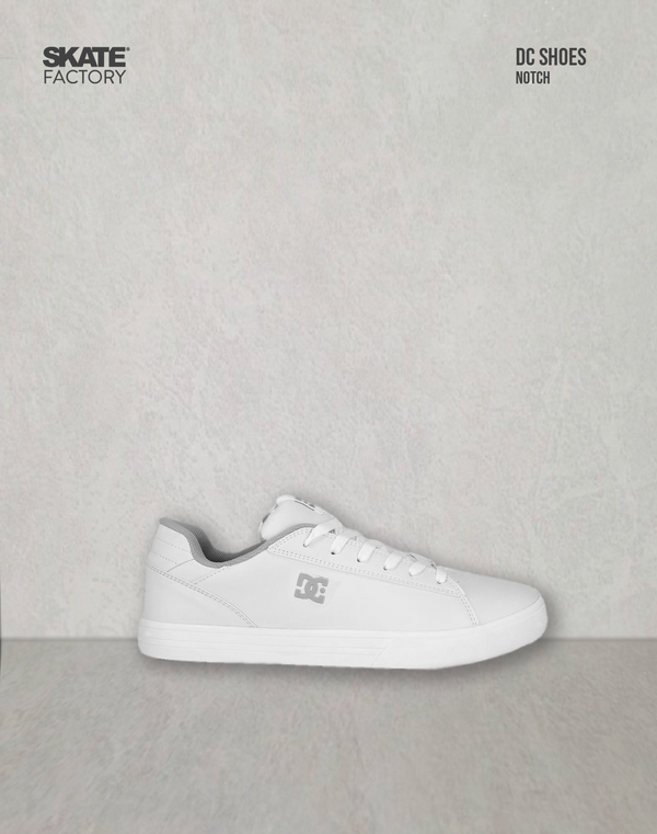 DC SHOES NOTCH TENIS CABALLERO BLANCO GRIS