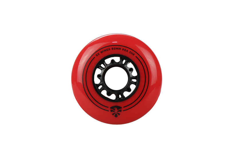 RUEDAS PARA PATINES SET DE 4 PZ FLYING EAGLE SLIDER  90A ROJO