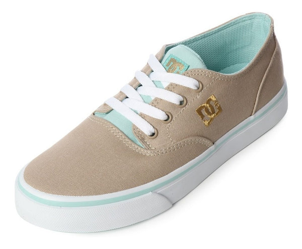 DC SHOES FLASH 2 TENIS DAMA BEIGE