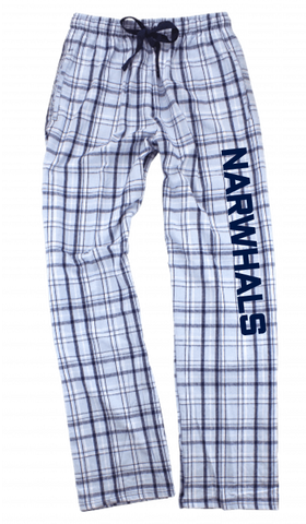 Blue Narwhal Flannel Lounge Pants
