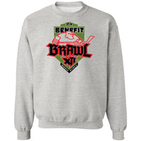 Benefit Brawl Crewneck Pullover Sweatshirt  8 oz.