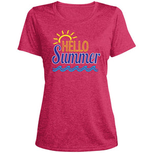 Hello Summer Ladies' Heather Dri-Fit Moisture-Wicking T-Shirt