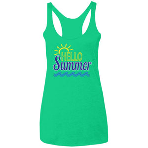 Hello Summer Ladies' Triblend Racerback Tank