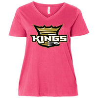 Kings  Ladies' Curvy V-Neck T-Shirt