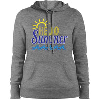 Hello Summer Ladies' Pullover Hooded Sweatshirt