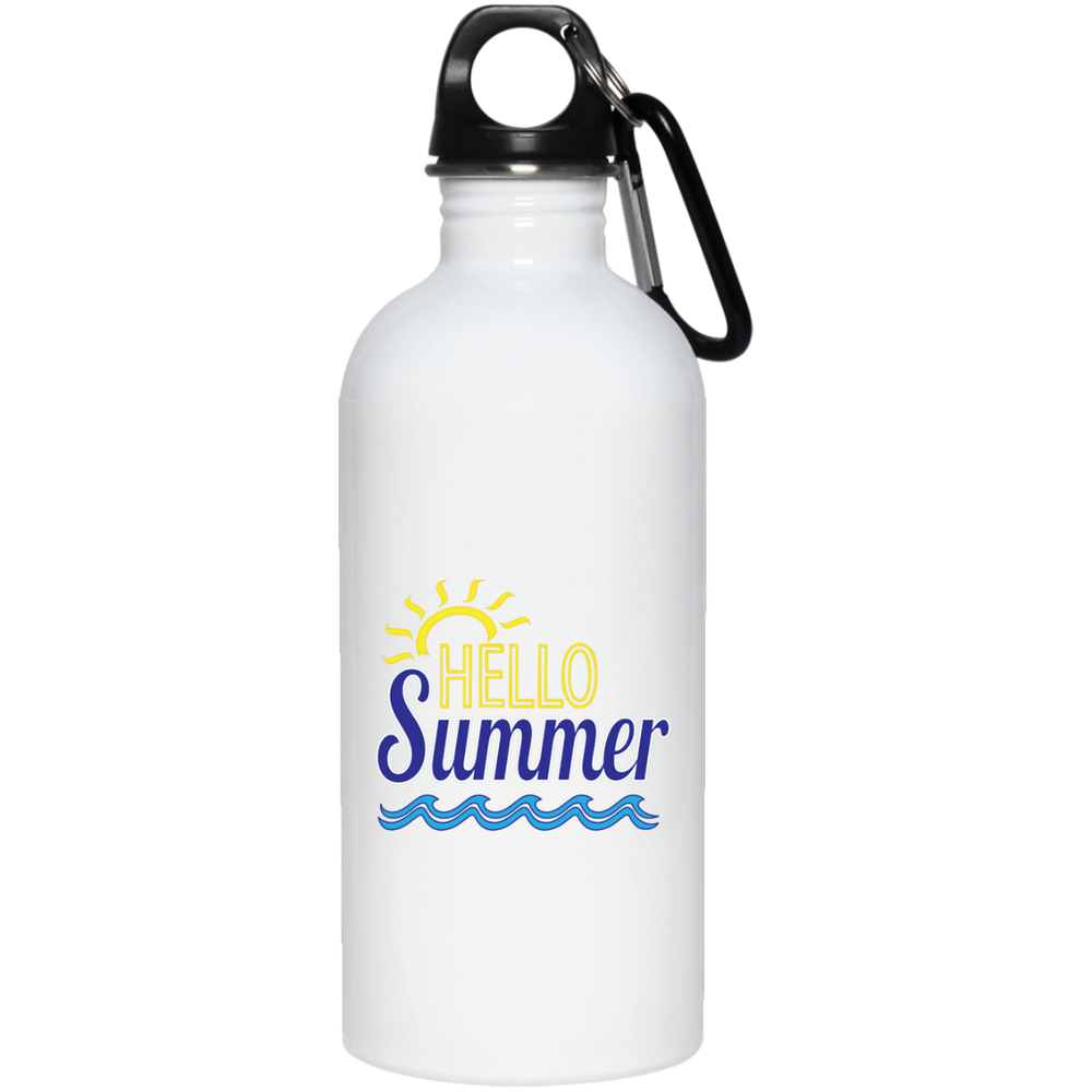 Hello Summer 20 oz. Stainless Steel Water Bottle