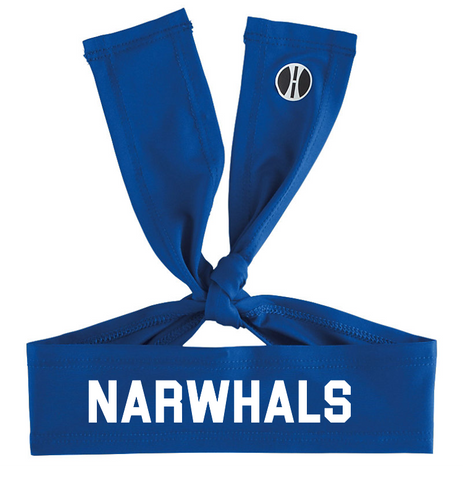 Narwhals Tie-Back Headband