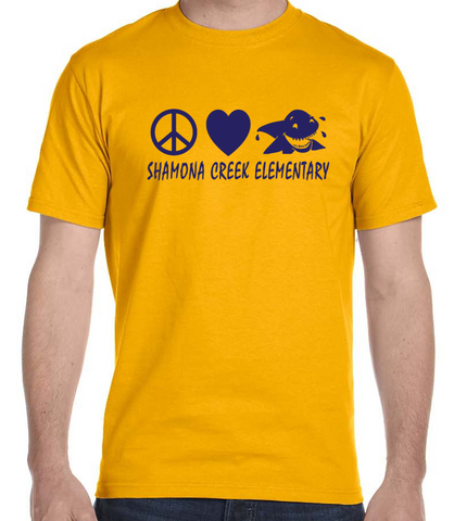 ADULT Peace Love Fin Tee - Shamona Creek
