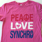Peace Love Synchro - Girls Tee
