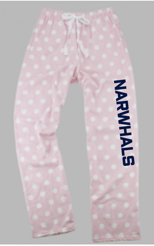 Pink Narwhal Flannel Lounge Pants