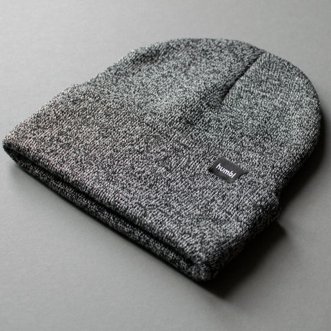 humbl dark grey coloured streetwear beanie hat