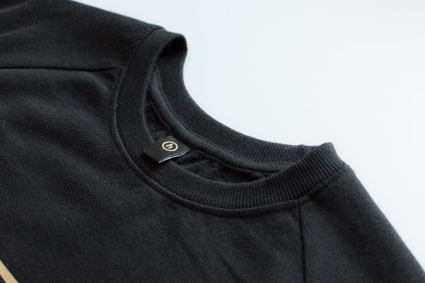 humbl black and gold streetwear sweatshirt