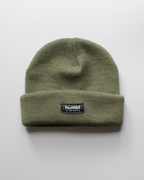 humbl - olive low key beanie