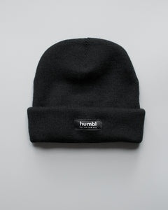 humbl - black low key beanie