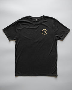 humbl black and gold streetwear t-shirt