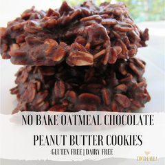 No Bake Oatmeal Chocolate Peanut Butter Cookies | Gluten Free Dairy Free