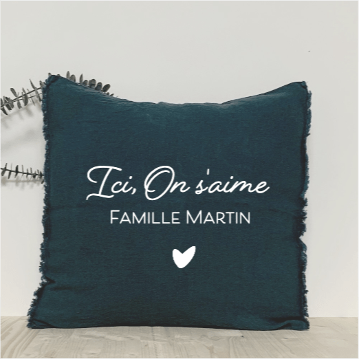 Coussin Ici On s'aime - Little Antoinette