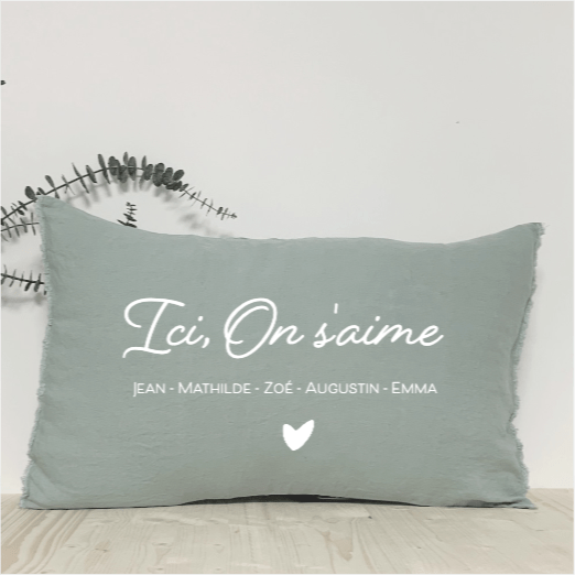 Coussin Rectangulaire Ici On s'aime - Little Antoinette