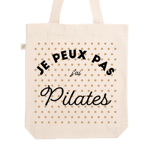 "Tote Bag ""Je peux pas j'ai Pilates"" - Little Antoinette"