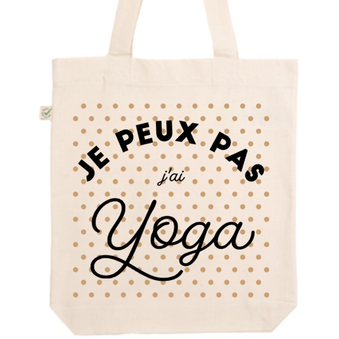 "Tote Bag ""Je peux pas j'ai Yoga"" - Little Antoinette"