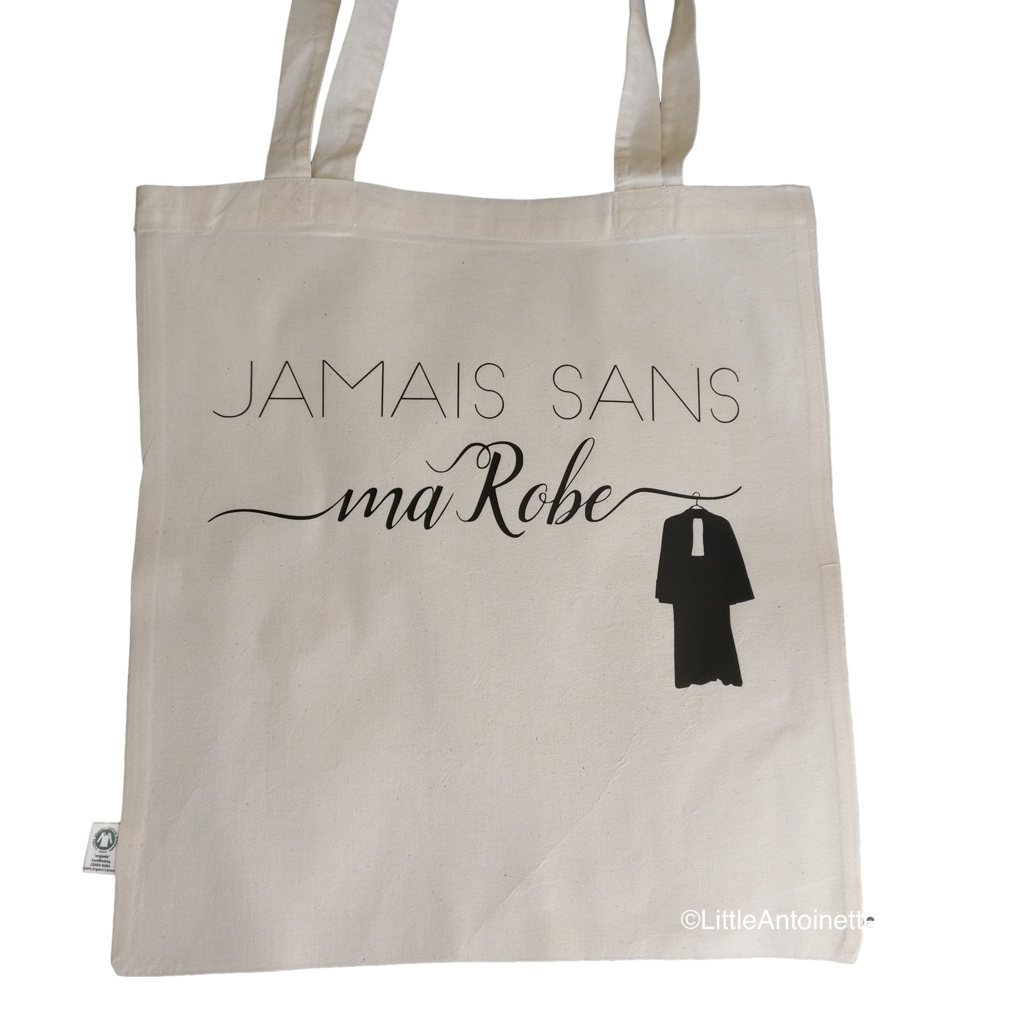 "Tote Bag Avocat ""Jamais sans ma Robe"" - Little Antoinette"