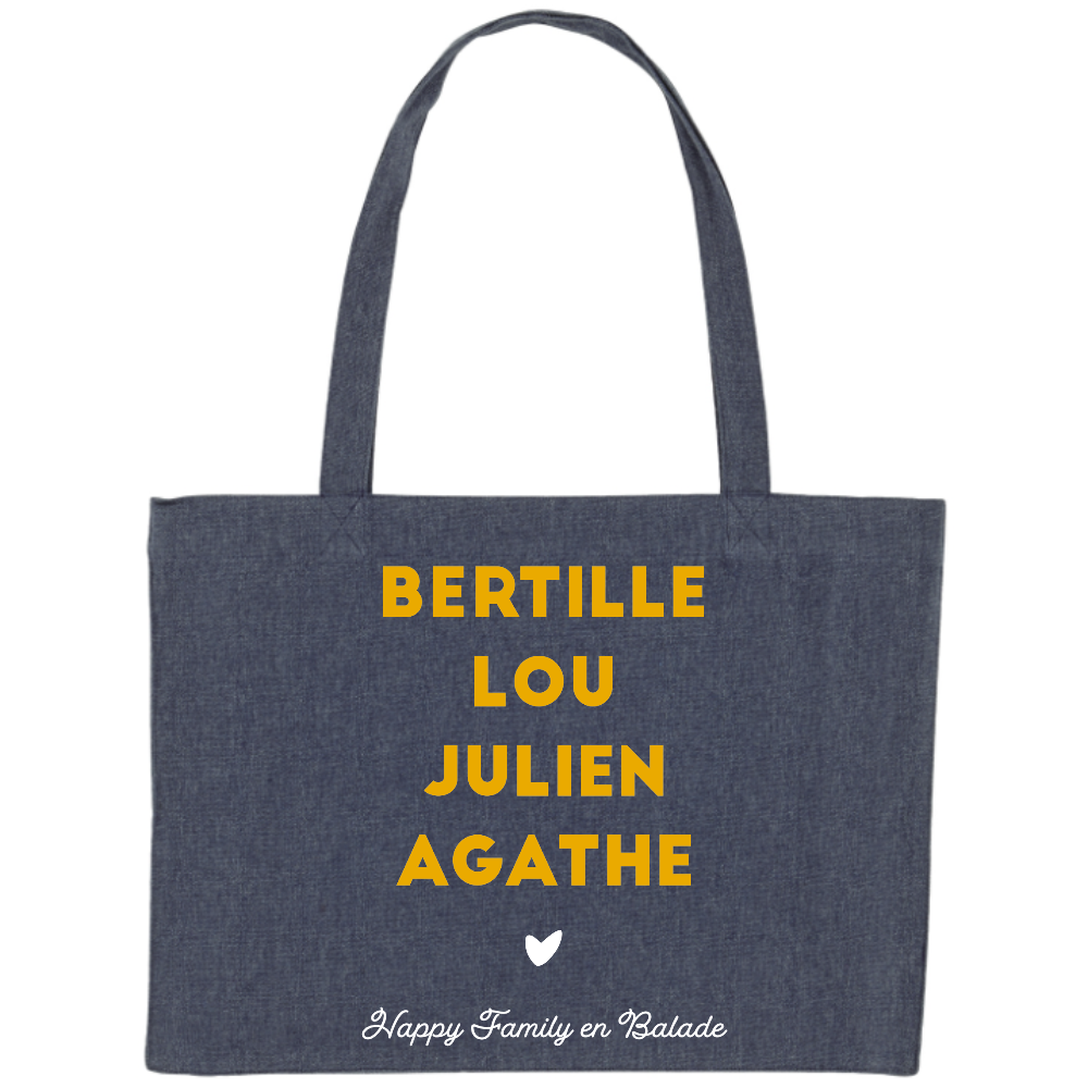 Maxi Tote Bag Prénoms - Happy Family