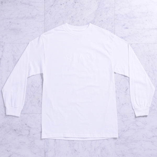 Wordmark Longsleeve Tee (White)