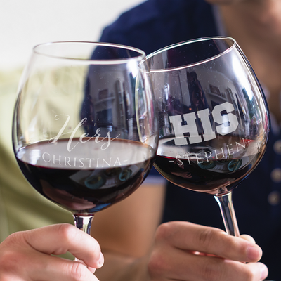 His & Hers Wine Glasses