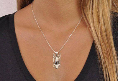 Boston Terrier Regal Necklace (Keep Your Boston Close To Heart)