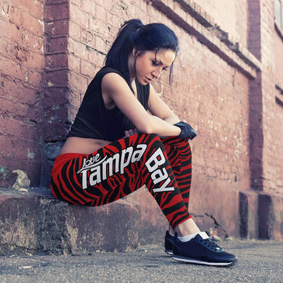 Tampa Bay Football Striped Leggings