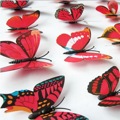 3D Butterfly Wall Stickers - FREE