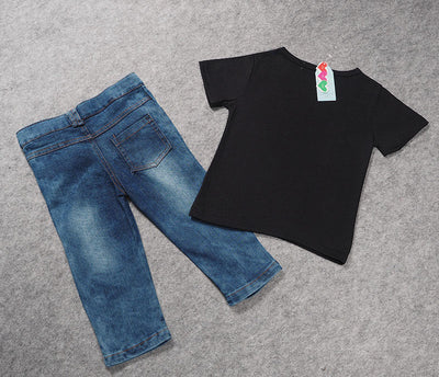 T-Shirt and Denim 2pcs Sets