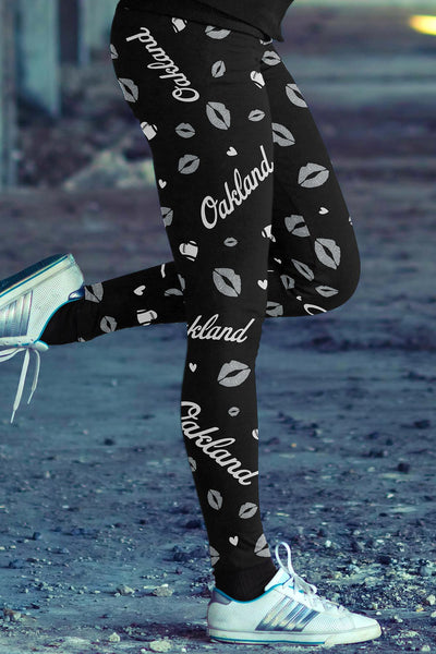 Oakland Lovin Kisses Football Leggings