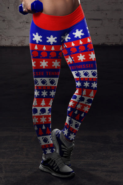 Tennessee Ugly Christmas Classic Football Leggings
