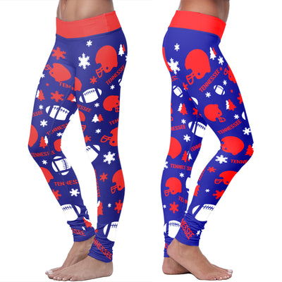 Tennessee Ugly Christmas Random Football Leggings